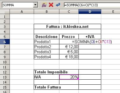 Calcolo del prezzo finale di un articolo conoscendo montante imponibile e IVA
