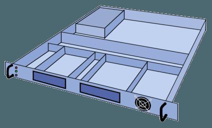 Server rack 1U
