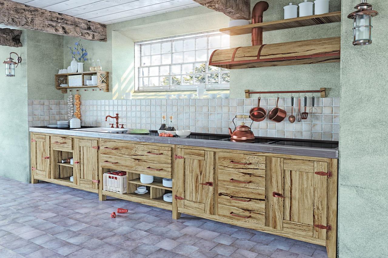 Cucine in muratura moderne: country, rustiche o shabby ...