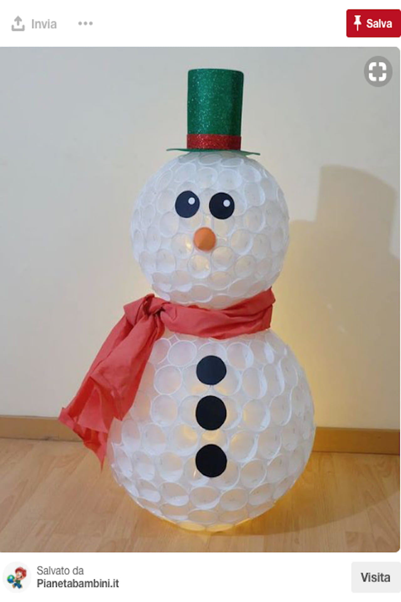 Lavoretti Con Bicchieri Di Plastica Per Natale.Pupazzo Di Neve Con Bicchieri Di Plastica Come Si Fa