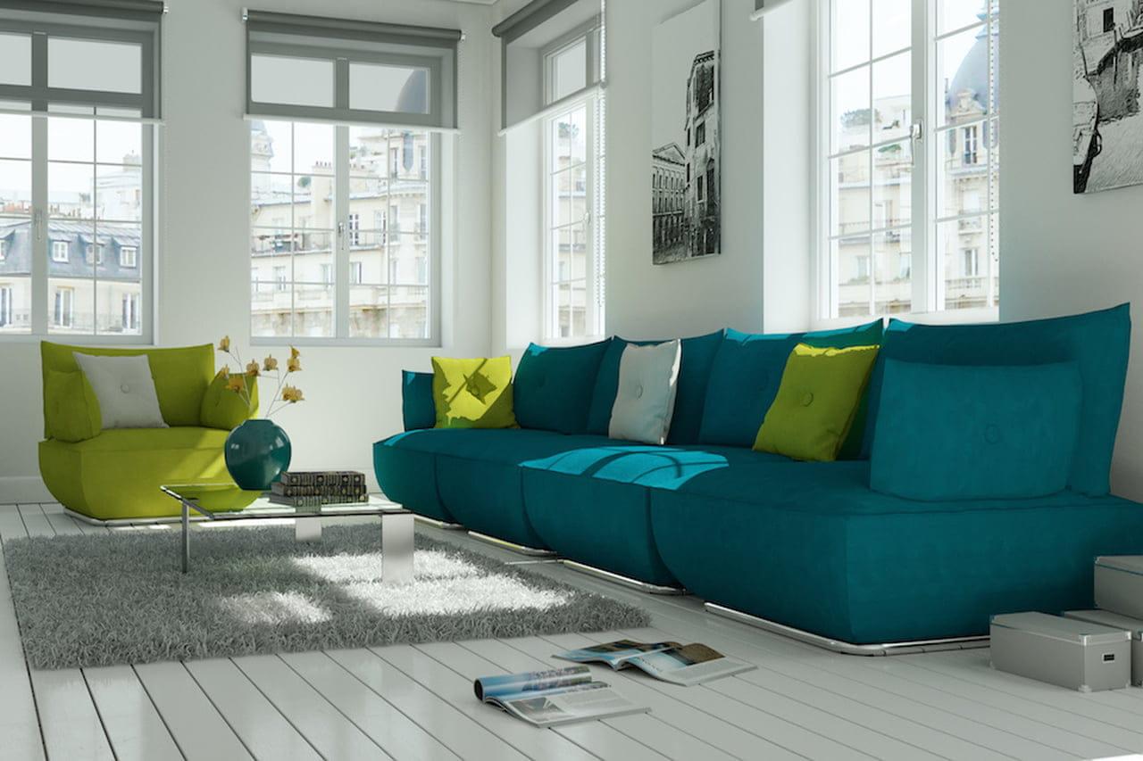Colori freddi: verde e blu per case (extra)chic - Magazine ...