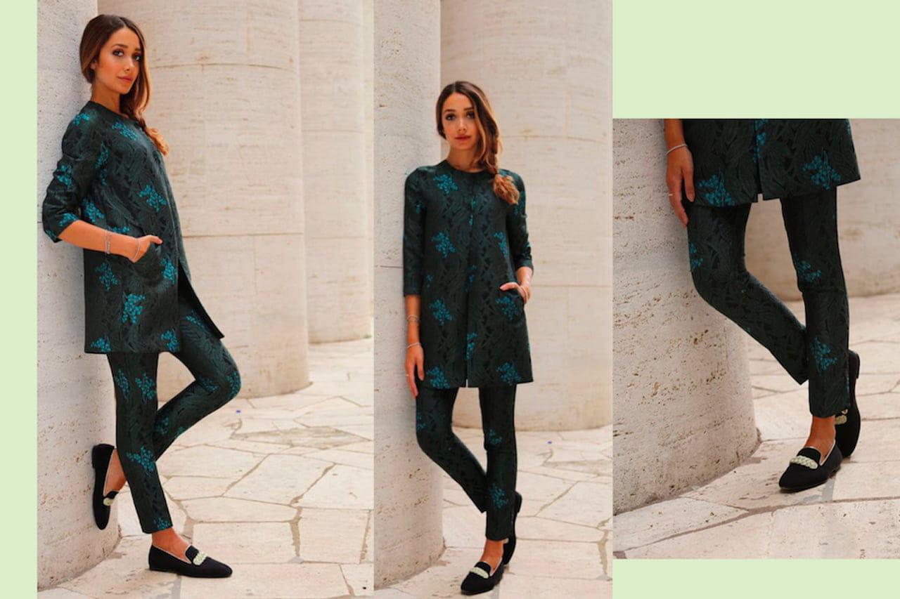 Il completo giacca pantaloni fantasia è un mix elegantissimo che si adatta  sia all ufficio sia alla mise delle serate mondane. © Sandro Ferrone 024bf4f2225