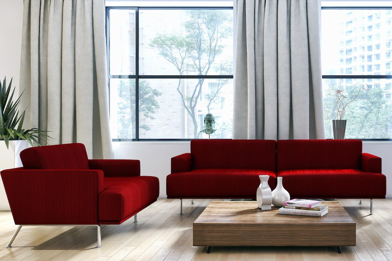 Divano Rosso E Grigio colore bordeaux: abbinamenti neutri, bohèmien o chic