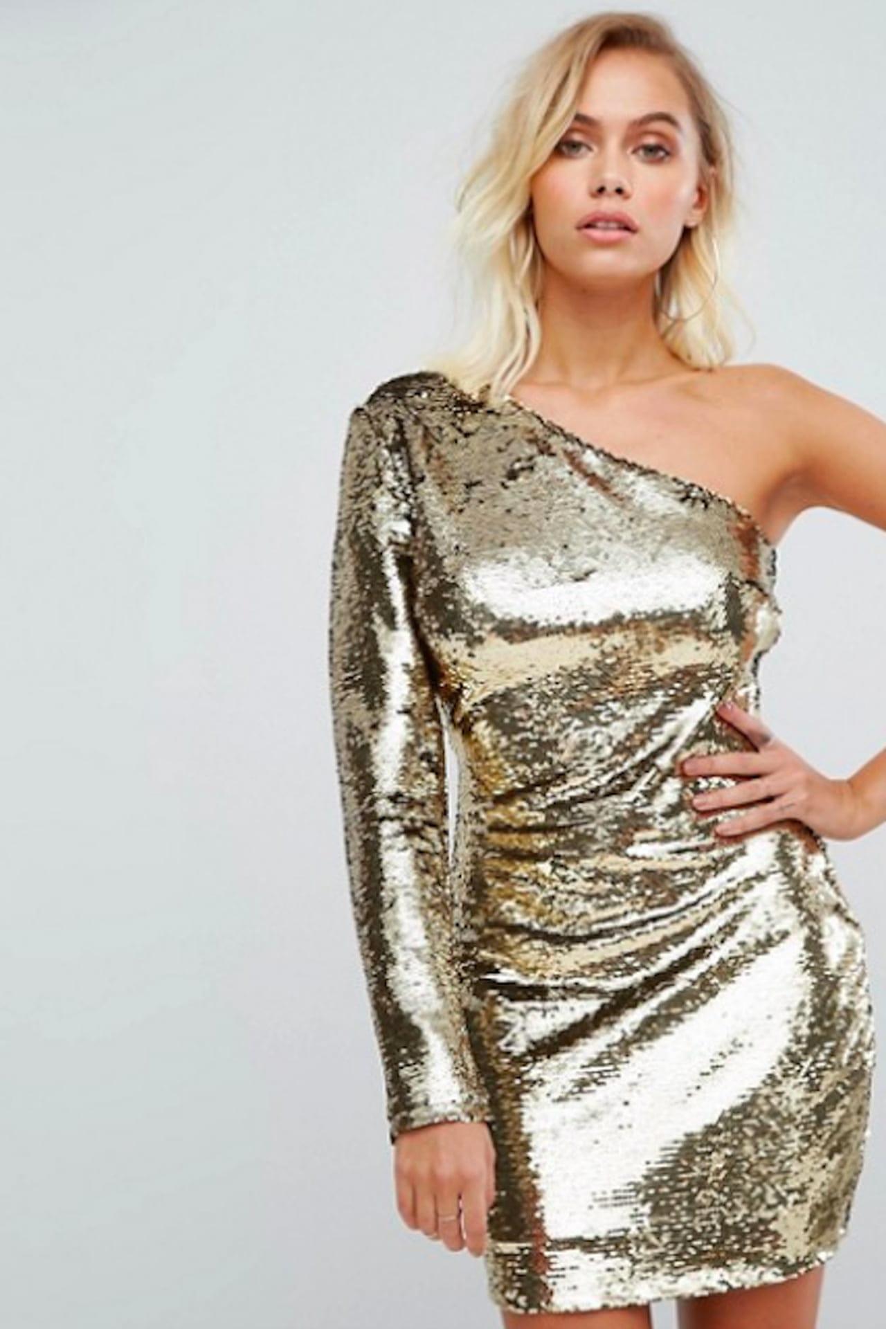 online store aeb8e 03817 Vestito oro: look delle feste!
