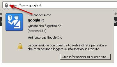 visualisazione di una connessione sicura da SSL in Mozilla Firefox