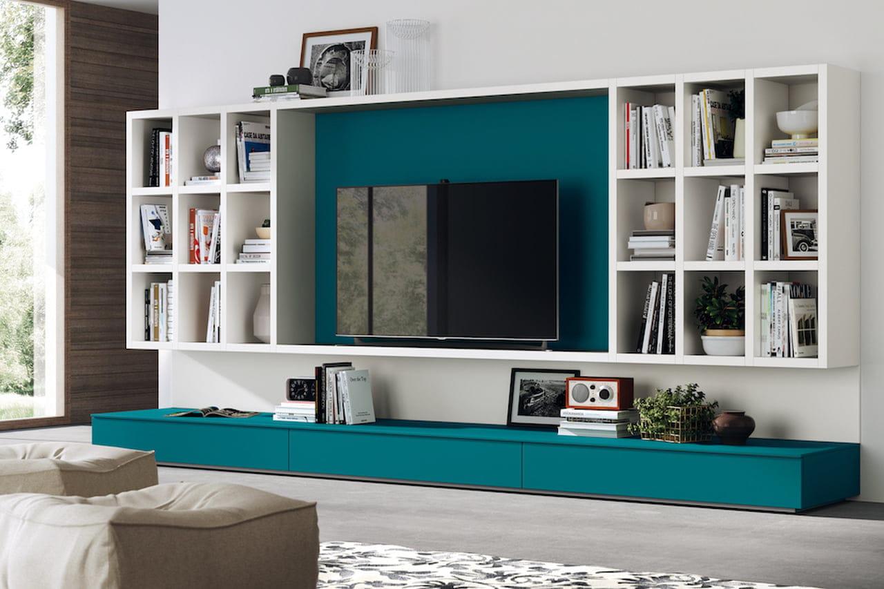 Pareti attrezzate moderne soluzioni per il soggiorno e for Scavolini pareti attrezzate