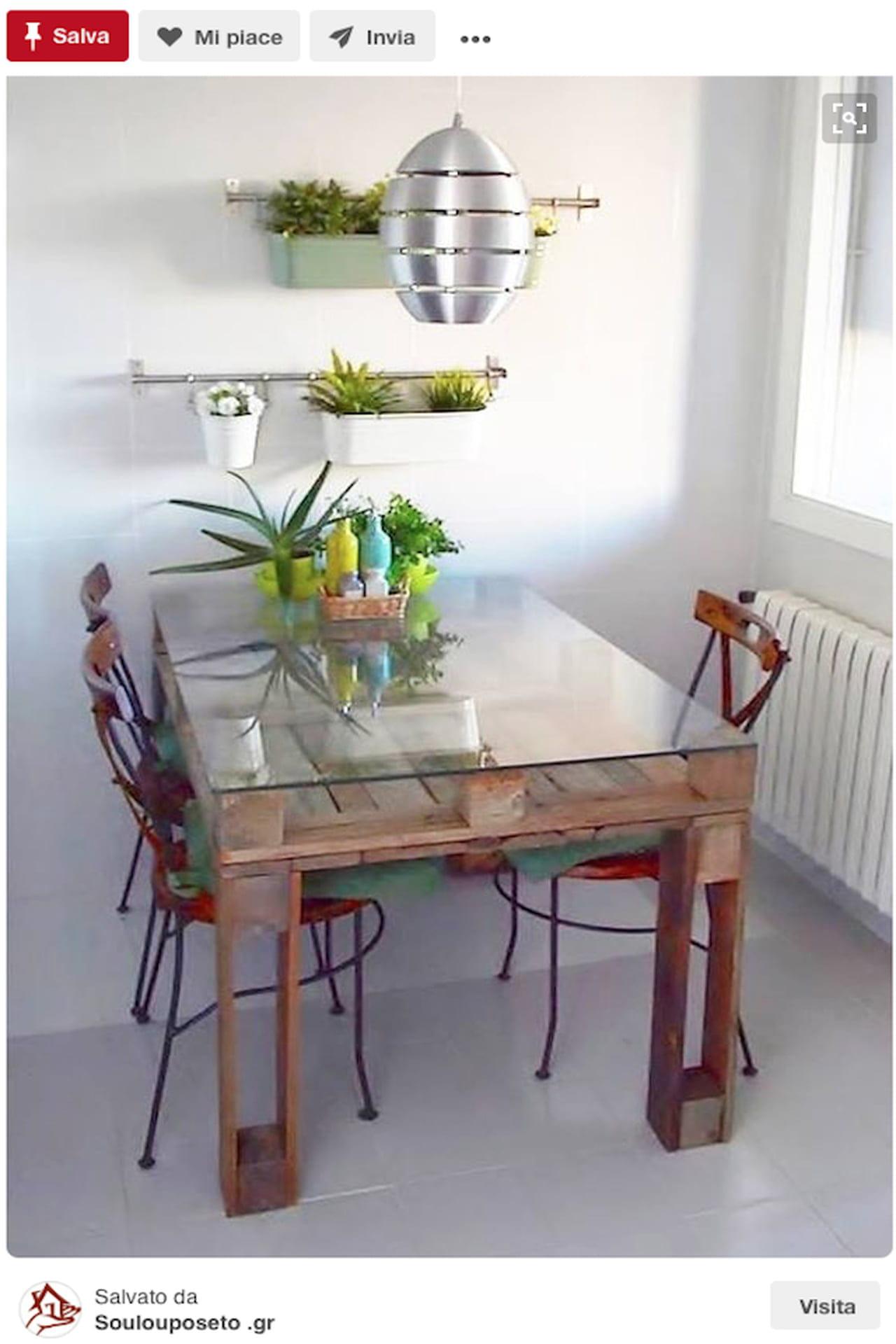 Tavolo Da Pranzo Con Pallet.Mobili Con Pallet L Arredamento Design