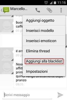 Aggiungi alla blacklist