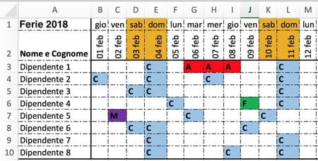 Calendario Dicembre 2019 Excel.Come Pianificare Le Ferie Su Excel