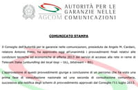 Telecom: Agcom conferma misure su canoni di accesso alla rete