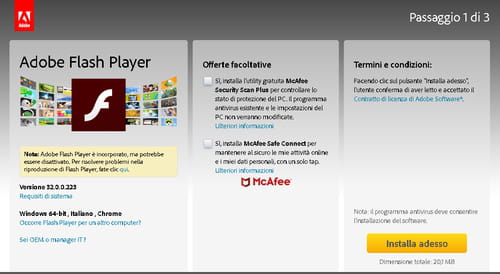 Download Adobe Flash Player gratis - Nuova versione in italiano su