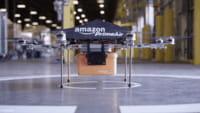 Amazon drone e paracadute per consegne