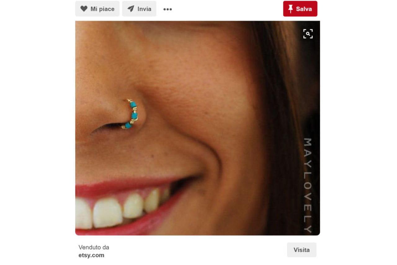 massima qualità outlet in vendita ampia selezione di design Piercing al naso: anello o brillantino? A ciascuna il suo