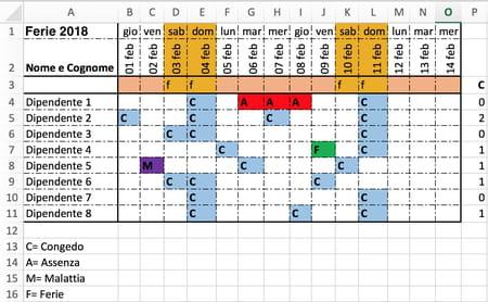 Controllo Calendario Excel 2020.Come Pianificare Le Ferie Su Excel