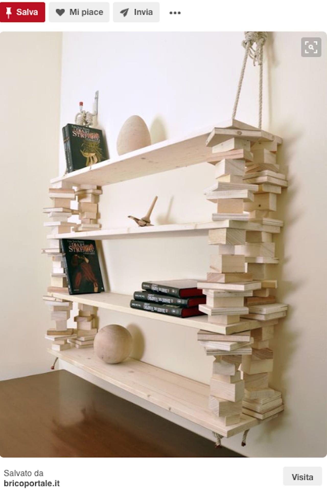 Foto Di Librerie In Legno.Libreria Fai Da Te Il Riciclo In Legno Magazine Delle Donne