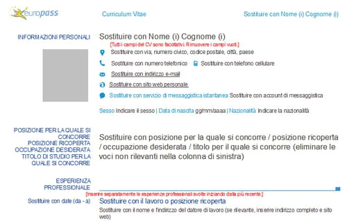 download cv europass 2013 gratis